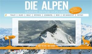 Die Alpen von oben.