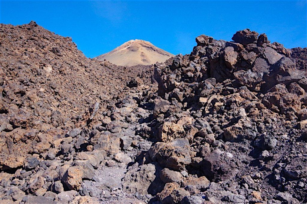 Blick zum Teide vom Lavaweg